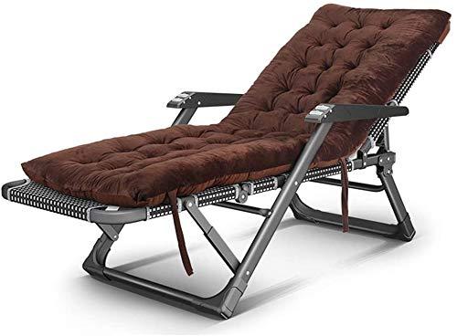 Kniestühle Reclining Sonnenliege Faltbare Garten Sonnenliege, Verstellbarer Außen Stuhl, Massage Roller und das Sitzkissen, Mehrzweckbüromittagspause Lounge Chair xiuyun (Color : B)