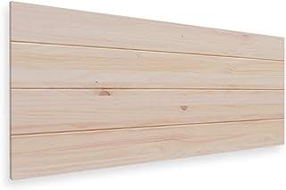 LA WEB DEL COLCHON - Cabecero de Madera Rústico Vintage para Cama de 80 (90 x 44 cms.) Crudo sin Pintar | Cabeceros Madera | Dormitorio Matrimonio | Cabezal Cama |Estilo nórdico