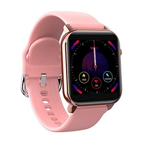Reloj inteligente KOSPET GTO pantalla de 1,4', IP68 resistente al agua, monitor de frecuencia cardíaca con 31 modos de deporte, rastreador de fitness, reloj Bluetooth para hombres y mujeres (rosa)