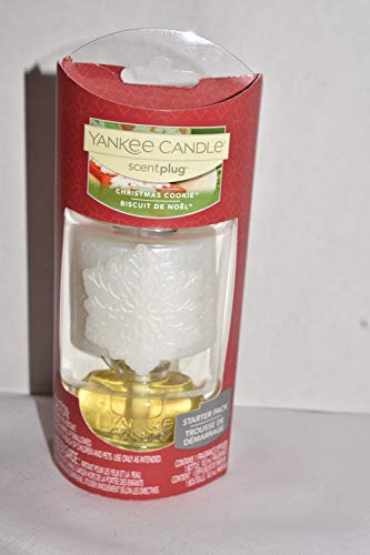 Yankee Candle Christmas Cookie Scent-Plug Starter Pack with Decorative Snowflake Diffuser