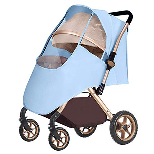 Kuingbhn Housse de Pluie pour Poussette Pluie Poussette Universel Coupe antipluie Insipide Respirant All Seasons Raincoat pour Poussette Poussette Buggy Pram (Color : Pink, Size : One Size)