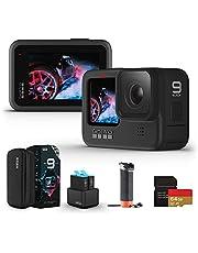 【国内正規品】GoPro HERO9 Black アクションカメラ ゴープロ 水中カメラ 人気アクションカム (GoPro HERO9Black +認定SDカード(64GB)+デュアルバッテリーチャージャー+予備バッテリー+フローティング ハンド グリップ)