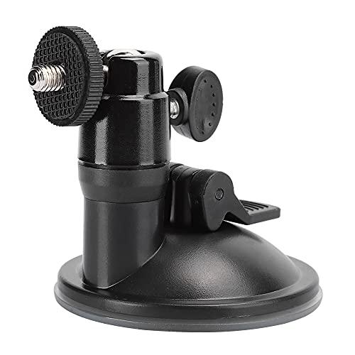 Lazimin Ventosa de vacío para automóvil, aleación de Aluminio, Soporte de Ventosa de vacío para Montaje en vehículo, Soporte de adsorción Fuerte, fácil de Instalar(Negro)
