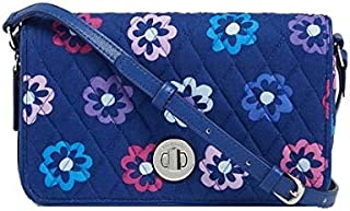 Vera Bradley Turnlock Crossbody Ellie Flowers
