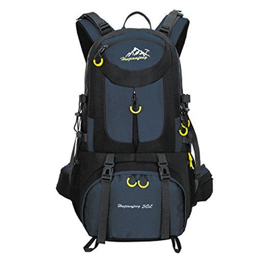 YUMOMO 50L nylon impermeabile Escursionismo Camping viaggio esterna zaino Sport Pack alpinismo arrampicata zaino Bag