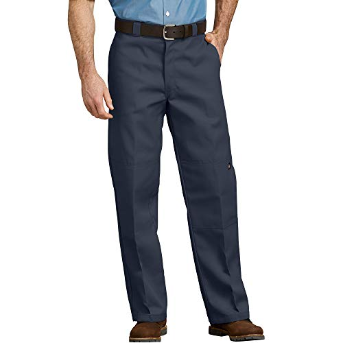 Dickies Men's Loose Fit Double Knee Twill Work Pant, Dark Navy, 42W x 32L
