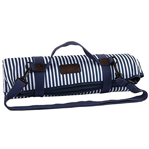 Three Rivers Picknickdecke, Marineblau/Weiß