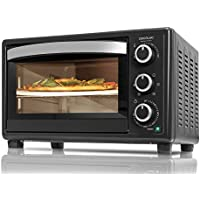 Cecotec Horno de convección con piedra para pizza.Multifunción de sobremesa con 26 litros. Ideal para pizzas. Cocina por convección.Luz interior y puerta con doble cristal. 1500 W. Bake&Toast 570