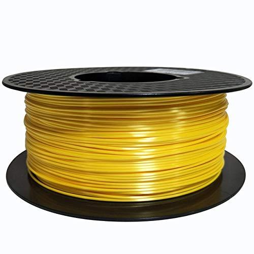 CROSYO 1pc Silk PLA Filament 1.75mm 1 kg 3D-Drucker Glühfaden Seidenglanz 3D Pen Printing Materials Glänzend Metall Metallic-Look wie Gefühl PLA (Farbe : Silk Bright Yellow)