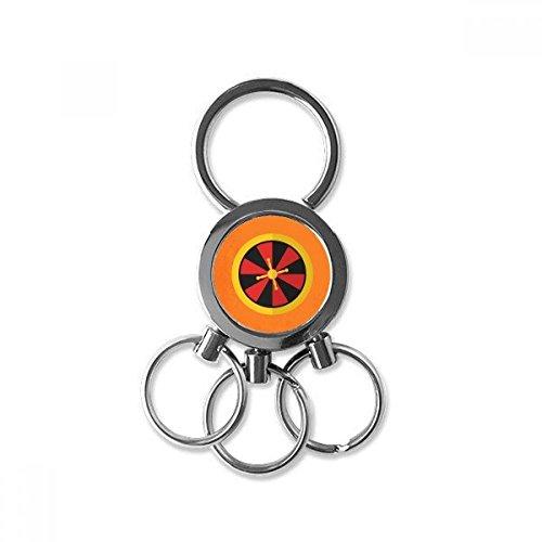 Doe-het-zelf casino draaischijf element illustratie roestvrij staal metaal sleutelhanger ring auto keychain sleutelring clip cadeau