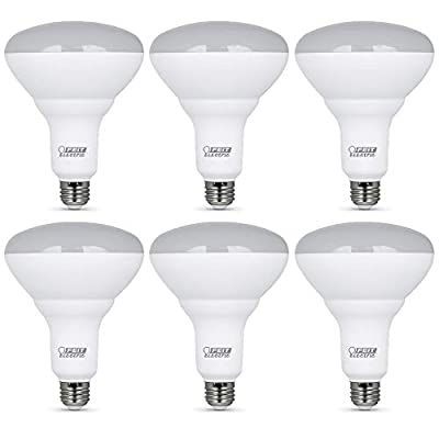 """Feit Electric BR40DM/10KLED/2/3 65W-Equivalent 13 Watt BR40 Dimmable Reflector Flood Recessed Can LED Light Bulb, 6.9"""" H x 5"""" D, 2700K Soft White, 6 Piece"""