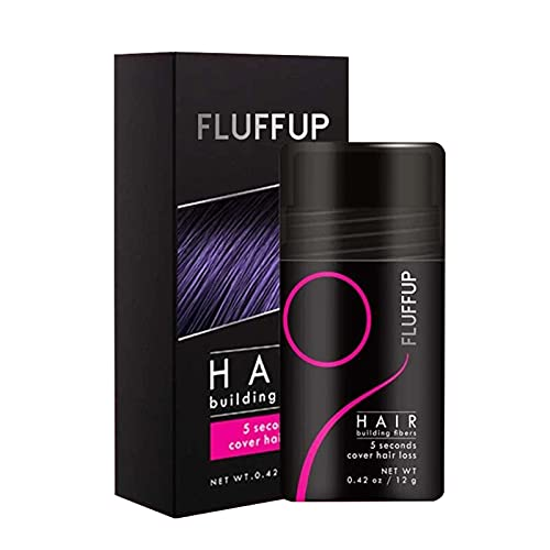 Unisex Hair Fibers - Fluff Up Secret Hair Fiber Powder for Any Color Hair 5 Sencods Cover Up Long lasting with Natural Look Dating Accessory, Nature Keratin Fibers for Thinning Hair - 12g
