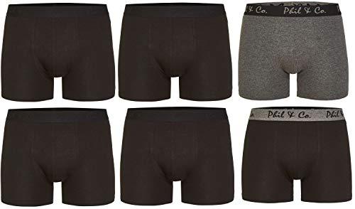 Phil & Co. Berlin 6er Pack Herren Jersey Boxershorts Boxer Trunk Short Pant Farbwahl, Grösse:M - 5-50, Farbe:Design 02