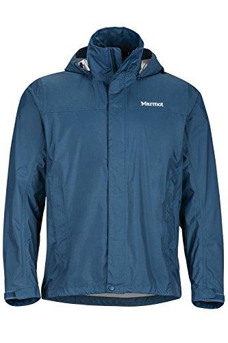 Marmot Herren PreCip Jacket Hardshell Regenjacke, winddicht, wasserdicht, atmungsaktiv, blau (Denim), M