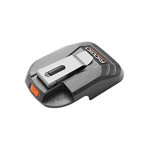 Ridgid AC86072B 18V USB Portable Power Source   Charges Phones & Tablets   with Activate Button (Bulk Packaging)