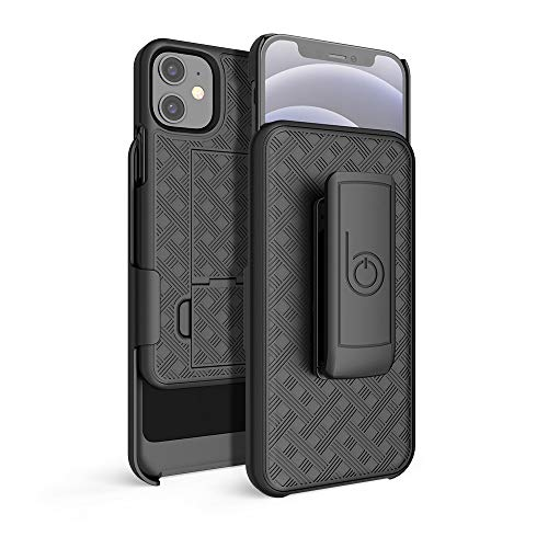 """BELTRON Case with Belt Clip for iPhone 12 Mini, Slim Fit Protective Shell & Swivel Belt Clip Holster Combo with Built-in Kickstand for iPhone 12 Mini 5.4"""" (2020)"""