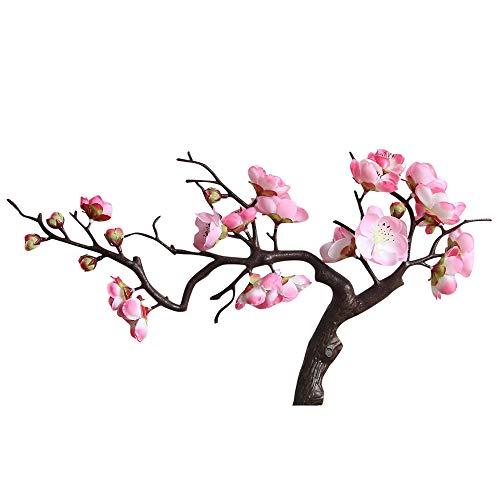 Sencillo Vida Flores Artificiales Plum Blossom de Seda para la Primavera jardín jarrón decoración, Boda, Fiesta, cumpleaños, Aniversario, escaparate (A)