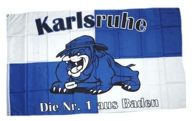 Fahne / Flagge Karlsruhe Bulldogge Fan NEU 90 x 150 cm