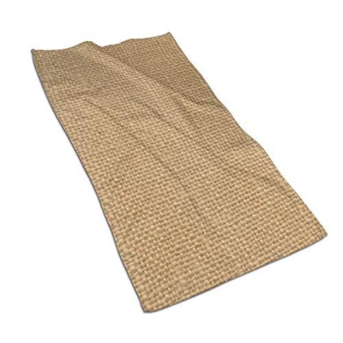 N/A Juego de toallas de baño de algodón egipcio con impresión de acuarela, ultra absorbente, color marrón, personalizado rústico de yute impreso, 27,5 x 39,7 pulgadas
