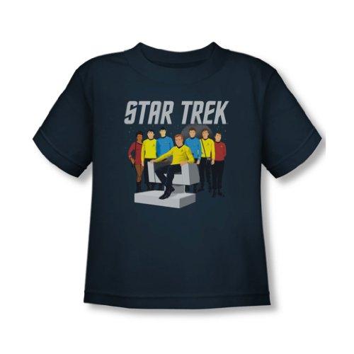 Star Trek - - T-shirt pour jeunes enfants Vecteur Crew, 2T, Navy