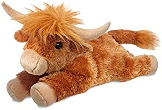 Aurora, 60932, Flopsie Highland Cow, 12In, Soft Toy, Red, Brown