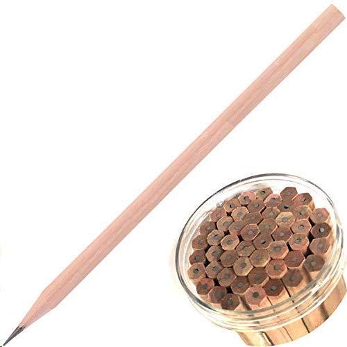 2B Bleistift 50er-Pack Bundle natürliche sechseckige Holzbleistifte in einem Eimer Glattes Schreiben für Computer-Scoring-Prüfungen Schulbüros Zeichnen Skizzieren