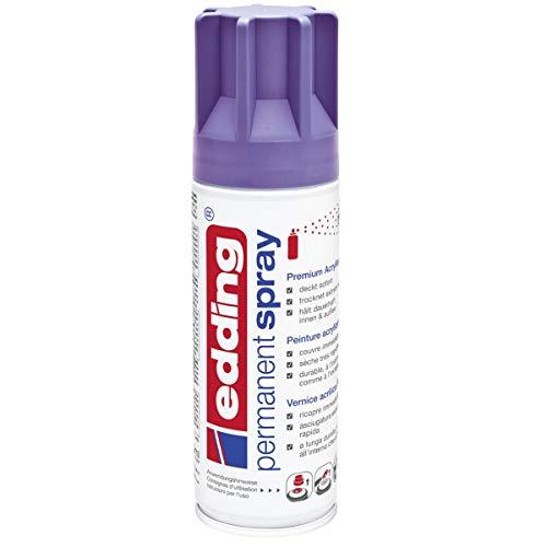edding 5200 Permanent-Spray - lila matt - 200 ml - Acryllack zum Lackieren und Dekorieren von Glas, Metall, Holz, Keramik, lackierb. Kunststoff, Leinwand, u. v. m. - Sprühfarbe