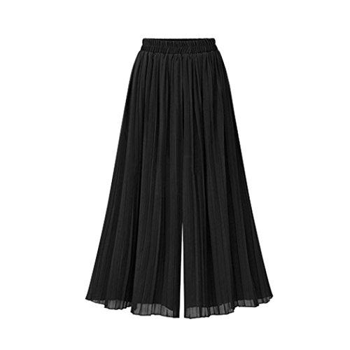 Vovotrade® Pantalons en Mousseline de Soie Pantalons Harem de Grande Taille Larges Pantalons (Size:2XL, Noir)