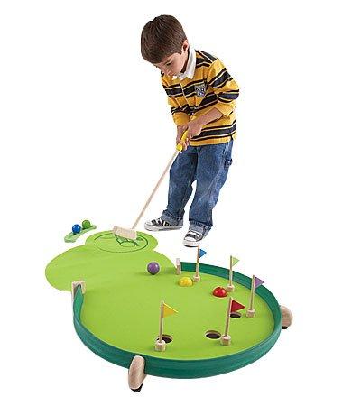 HearthSong Wonder Golf Portable Putting Green, Adjustable Skill Levels, 46' L x 23' W