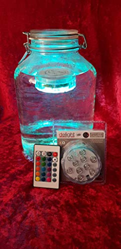 Delight LED decoratielamp - sfeerverlichting - waterdicht - 10 LED met afstandsbediening - 15 kleuren + kleurwisselfunctie - werkt op batterijen (3xAAA - niet inbegrepen)