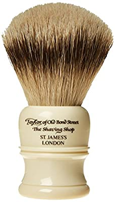 Taylor of Old Bond Street Super Badger Large Imitation Ivory Shaving Brush by Taylor of Old Bond Street