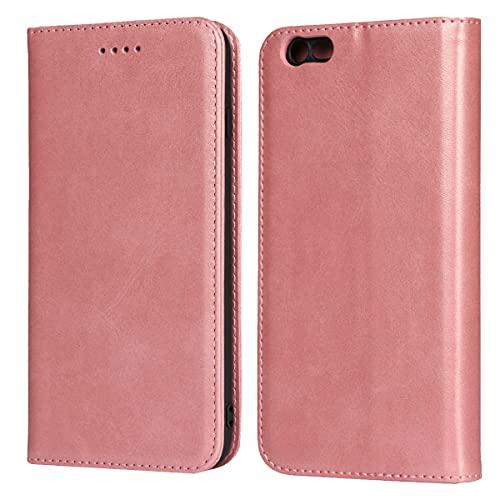 Copmob Cover iPhone 6/6S,Flip Portafoglio Custodia in Pelle,[3 Slots][Supporto Stand][Chiusura Magnetica],Custodia Cover Case Libro per iPhone 6/6S - Oro Rosa