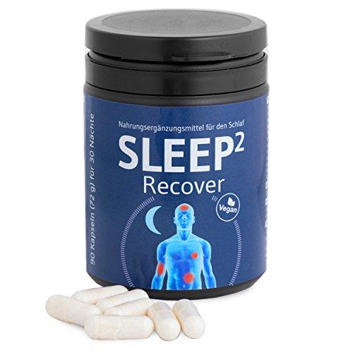 SLEEP² Recover - Patentierte Nährstoffkombination mit Kreatin, Glycin und Glutamin - Veganes Nahrungsergänzungsmittel, fördert einen guten regenerativen Schlaf - 90 Kapseln für 30 erholsame Nächte