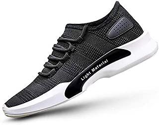 Footlodge Men's Black Lite Mesh Casual Sports Shoes