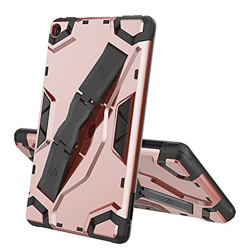 SENSBUN Funda para tablet Amazon Fire 7 (7''), resistente armadura suave TPU y cubierta rígida de PC con correa antideslizante para la mano y soporte a prueba de golpes, oro rosa