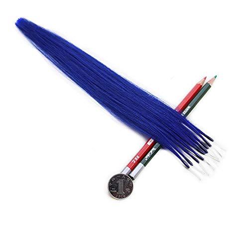 La boucle élastique de couleur de cheveux met en évidence le morceau de cheveux sans laisser de trace, un bleu royal 10