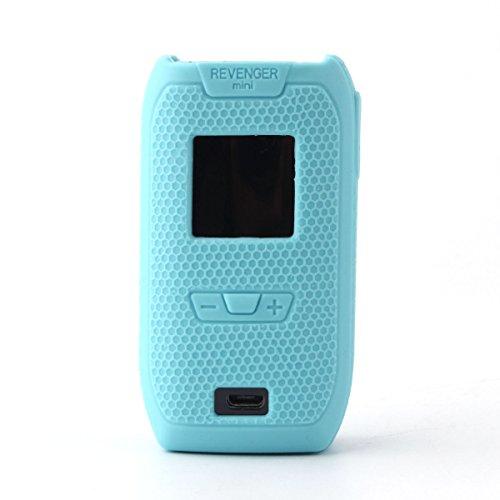 vaporesso Revenger Mini case, CEOKS Protective Skin case Rubber Cover for vaporesso Revenger Mini 85W kit mod Anti-Slip & Durable Silicone Skin Sleeve wrap modshield (Teal Blue)