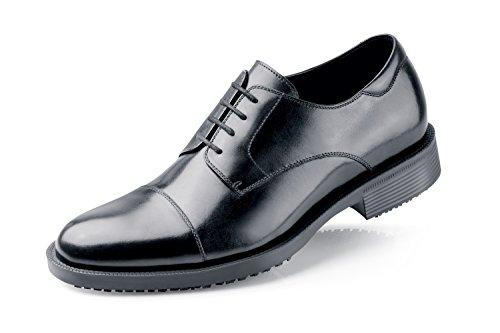 Shoes for Crews 1201 SENATOR Scarpe eleganti da uomo in pelle con lacci antiscivolo, NERO - Certificato di sicurezza EN