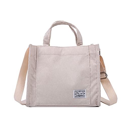 Borsa da Donna in Velluto a Coste della Borsa New Trend Trend Singolo Borsa a Tracolla Solid Color Buckle Messenger Bag Piccola Borsa Quadrata (Color : White, Size : 26x23x10cm)