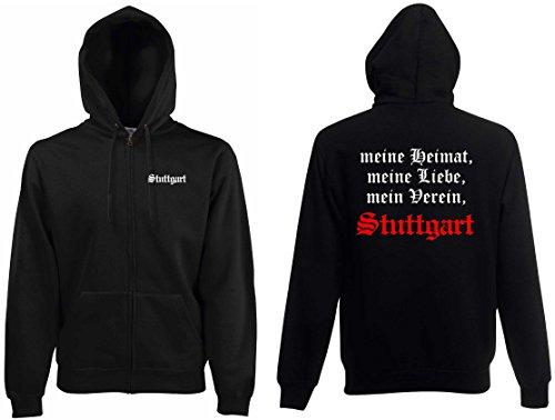 world-of-shirt / Stuttgart Herren Kapuzenjacke Meine Heimat