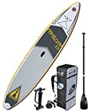 ADVANCED ELEMENTS Fishbone EX Inflatable Stand Up Paddle Board & Pump, White, 12'5'