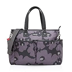 Made from wipe clean and water resistant coated cotton canvas with pu trim Luxury machine washable padded changing mat Insulated bottle holder with drawstring closure, keeps bottles warm or cool for up to four hours Long detachable shoulder strap wit...