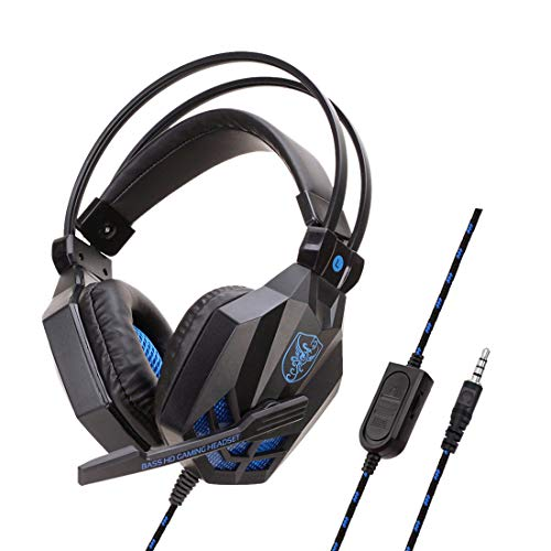 SY850MV Electric Internet Cafe Headphones PS4 Laptop Switch Dedicated quiet wheat wired headphones SY850MV Black and Blue PS4 Does not Glow Headphones With Packaging