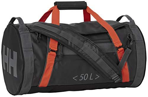 Helly Hansen HH Duffel Bag 2 50L Bolsa de Viaje, Unisex Adulto, Ebony/Cherry Tomato
