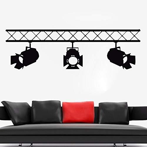 Vinilo Tatuajes de pared Arte de la pared Mural Etiqueta de la pared extraíble Cinema Rampe Spot Paquete de decoración PVC Patrón de una sola pieza Europa 4244 A6 57x57cm