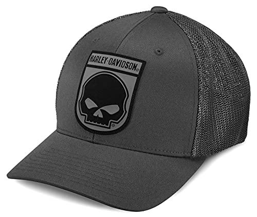 Harley-Davidson Trucker Cap Baseball-Cap Cappy Kappe Mütze Rubber Skull Grau, S
