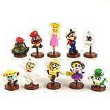 Super Mario Juguetes 10pcs/ Set Super Mario Bros Figuras Luigi Mario Odyssey Cappy Goomba Koopa Troopa Bullet Tank Princess Peach Anime Modelo Juguete