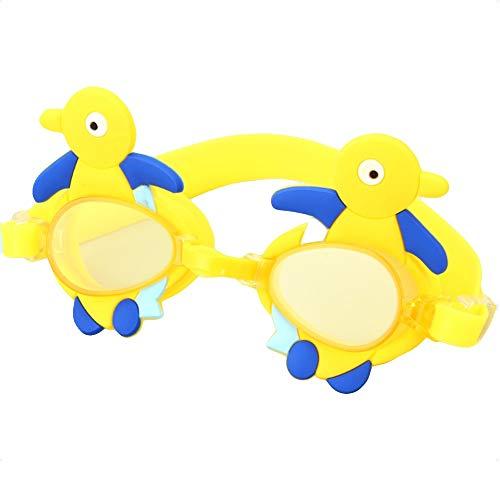 Flexiseal Gafas Natación Infantil para Piscina, Antiniebla Protección UV Sin Fugas Gafas para Nadar para Hombres Mujeres Natación con (Color : Yellow)