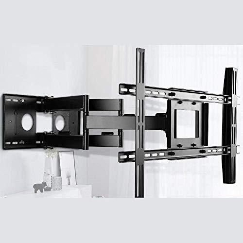 Soporte de pared para TV motorizado de acero inoxidable para la mayoría de televisores planos curvos de 50-80 pulgadas, soporte de monitor ajustable hasta 120 kg, altura de inclinación ajustable, VESA