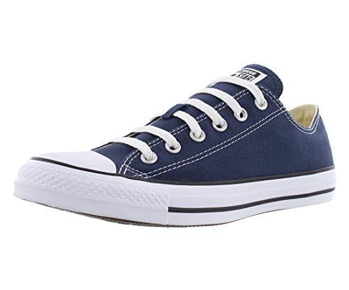 Converse Chuck Taylor All Star Low Top Sneakers (10.5 Women/8.5 Men, Navy)